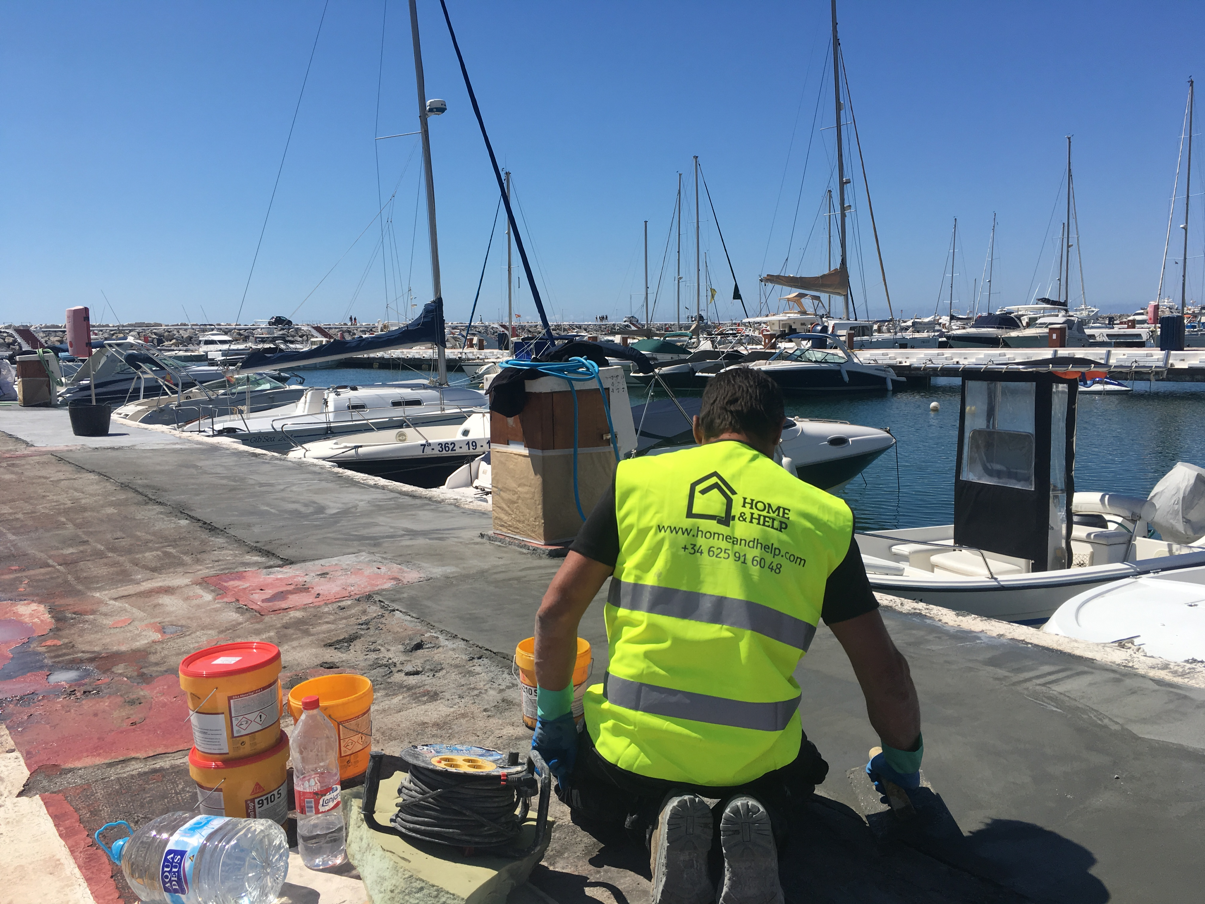 Restoration of the piers in Puerto Banus - s3 - homeandhelp.com