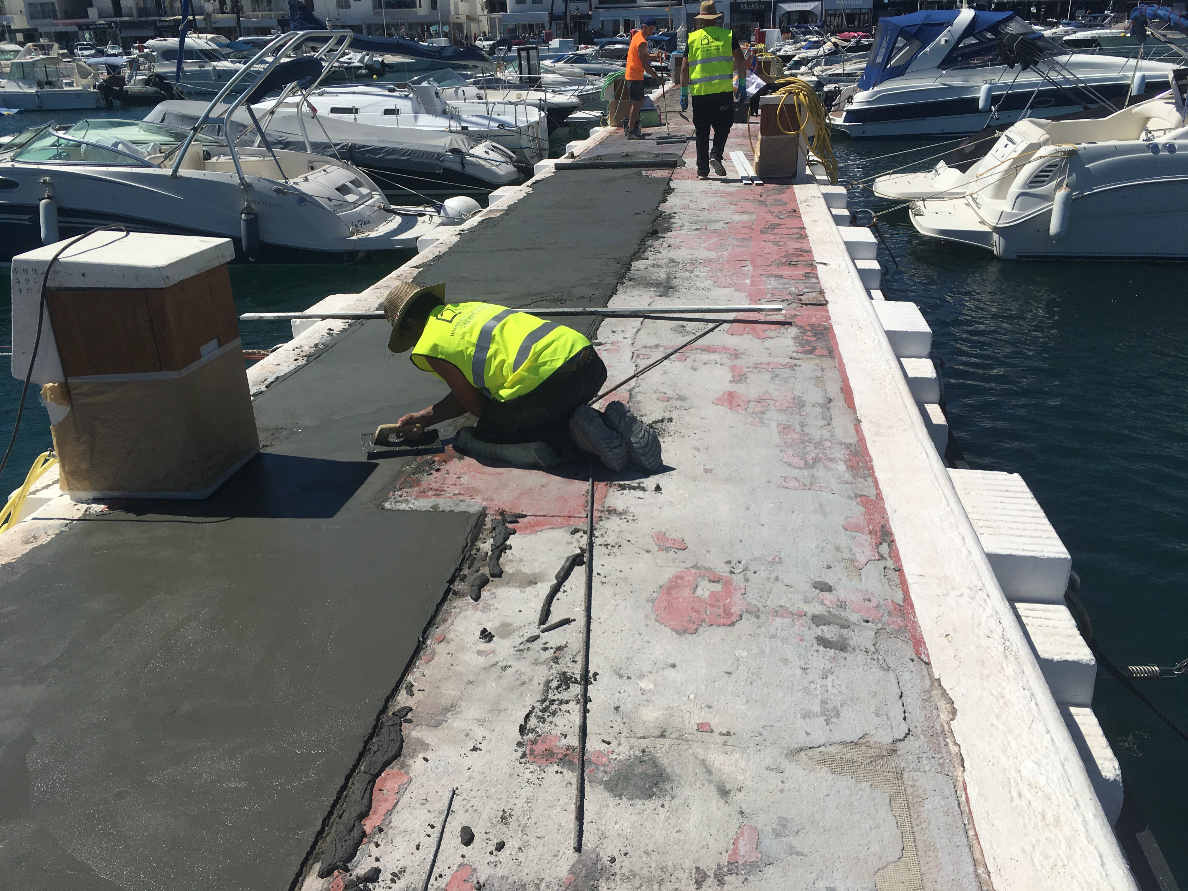 Restoration of the piers in Puerto Banus - s2 - homeandhelp.com