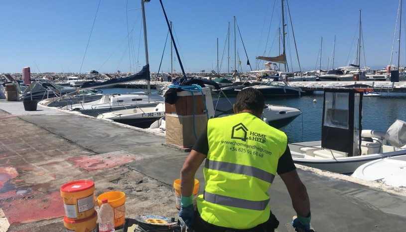 Restoration of the piers in Puerto Banus - 3 - homeandhelp.com